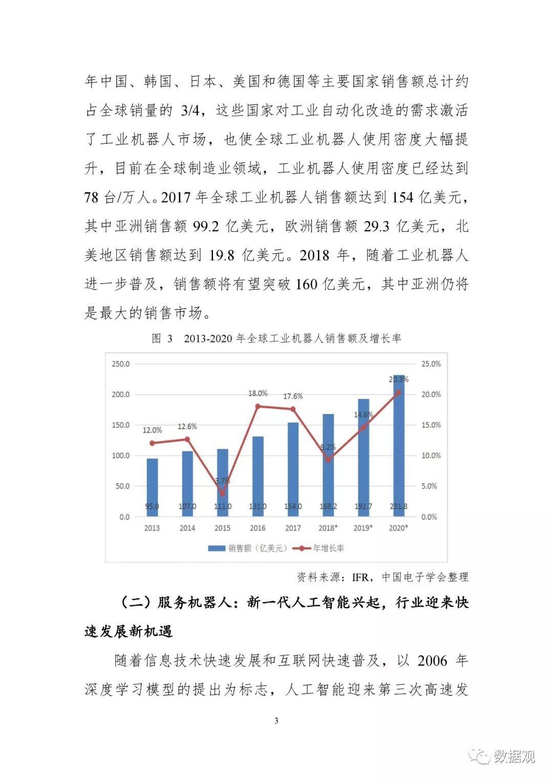 《中国机器人产业发展报告(2018年)》出炉
